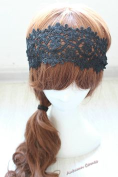 lace headband,  black Cute turban,   lace Fashion Turbans ,Woman headband cute hair turban, ,  Hair accessory , head wrap