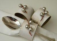 homework: a creative blog: Inkling: faux birch napkin rings