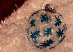 Blue stars ornament