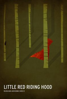 Little Red Riding Hood minimalist poster