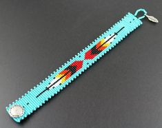 Native American by CabinFeverBracelets on Etsy Loom Bracelet Patterns, Beaded Necklace Patterns, Bead Loom Bracelets, Bead Loom Patterns, Weaving Patterns, Seed Bead Tutorials, Beading Tutorials, Beading Ideas, Beading Supplies