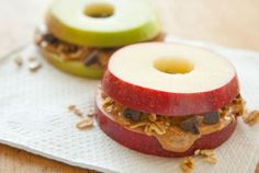 Apple Sandwiches with Granola and Peanut Butter | Whole Foods Market (or almond butter)