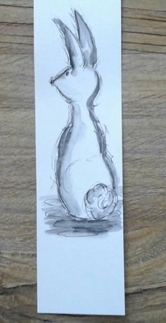 Check out this item in my Etsy shop https://www.etsy.com/listing/213772242/rabbit-bunny-original-whimsical-bookmark