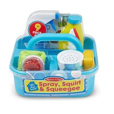 This spray, squirt & squeegee play set has everything your lil one need to keep their play house sparkling clean.These cleaning toy are great bath toys as well! Creative Play, Creative Thinking, Cleaning Caddy, Cleaning Supplies, Cleaning Checklist, Melissa & Doug, Cleaning Materials, Bath Toys, Inspiration For Kids