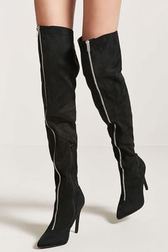 Faux Suede Over-the-Knee Boots // 44.90 USD // Forever 21