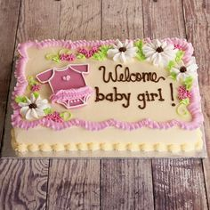 Baby Shower Sheet Cakes For A Girl   Google Search