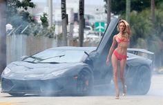 Victoria's Secret Angels and the Lamborghini Aventador Video
