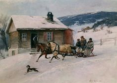 Norwegian artist Axel Hjalmar Ender (1853-1920)