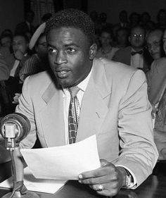Jackie Robinson before congress