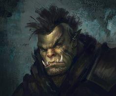 m Half Orc Barbarian portrait wilderness underdark Tomasz Chistowski Fantasy Races, Fantasy Rpg, Medieval Fantasy, Dungeons And Dragons Characters, Dnd Characters, Fantasy Characters, Fantasy Portraits, Character Portraits, Fantasy Inspiration