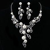 Fashion Leaves Diamond Jewelry Set(Necklace,E... – AUD $ 31.86