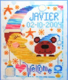 Barbara Ana Designs NEW BABY Birth Announcement Sampler  - Counted Cross Stitch Pattern Chart - By Szu Let Creations. $6.75, via Etsy.