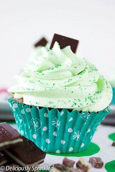 Homemade Mint Chocolate Cupcakes