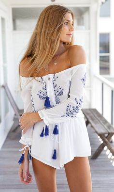 Mura Online Fashion Boutique | Ocean Of Stars Playsuit (white)