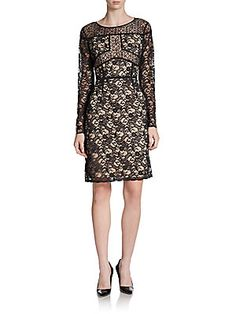 Lace Shift Dress at Saks off 5th.  $139.99 plus 30% off until Sep 16.