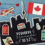 "Álbum de fotos em scrapbook ""Toronto-Canadá"" Canada, Scrapbook, Album, Christmas Ornaments, Holiday Decor, Bullet Journal, Travel, Bookbinding Tutorial, Toronto Canada"