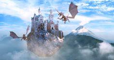 Flying castle by Dervisek