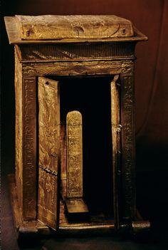 Gilded shrine for statue, KV 62,Tutankhamun and the Golden Age of the Pharaohs,