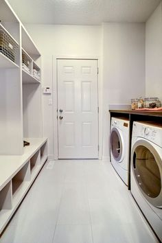 Combination Mudroom Laundry Room - Design photos, ideas and inspiration. Amazing gallery of interior design and decorating ideas of Combination Mudroom Laundry Room in laundry/mudrooms by elite interior designers. Mudroom Laundry Room, Laundry Room Remodel, Laundry Room Cabinets, Small Laundry Rooms, Laundry Room Organization, Laundry Room Design, Organization Ideas, Mudroom Cubbies, Bathroom Laundry