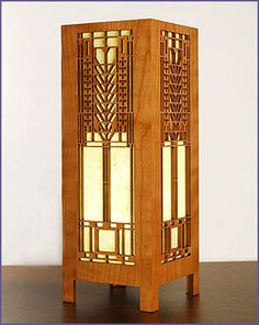 """The Frank Lloyd Wright Martin House Tree of Life Lightbox Accent Lamp design is adapted from one of the series of """"Tree of Life"""" windows in the Darwin D. Martin House."""