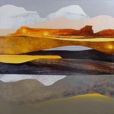 "Light Bounce in the Utah Basin, 40 x 40"""