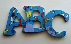 Custom Dr. Seuss Decorative Letters on Etsy, $2.00