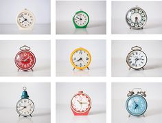 Typology of Russian alarm clocks. Cute Old Things on Etsy.