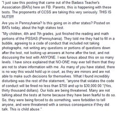 students coerced NOT TO TALK TO PARENTS???? wth????