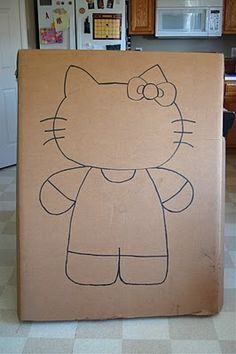 How to make Hello Kitty face cut out