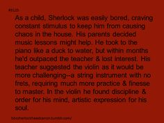 In real life Benedict Cumberbatch taught himself how to play violin