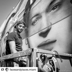 Credit to @facesandplaces.miami  Talented artist Fabio Onrack working on a mural of Dali Kahlo and Basquiat in Hollywood FL. #streetphotography #streetart  #blancoynegro  #fujixseries #insta_bw #blackandwhitephotography     #HollywoodTapFL #HollywoodFL #HollywoodBeach #DowntownHollywood #HardRockHolly #Miami #FortLauderdale #FtLauderdale #Dania #Davie #DaniaBeach #Aventura #Hallandale #HallandaleBeach #PembrokePines  #Miramar #CooperCity #Plantation #SunnyIsles #MiamiGardens #NorthMiamiBeach…