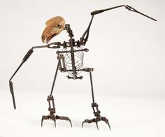 Willis O'Brien's articulated stop-motion armature from War Eagles