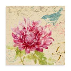 Fabrice de Villeneuve Studio Rose Fleurs I Wall Art - BedBathandBeyond.com