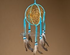 "Native American 3D Navajo Dream Catcher 6"" -Turquoise"