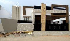Single Floor House Design, House Front Design, Small House Design, Building Elevation, House Elevation, Modern Exterior House Designs, Exterior Design, 2bhk House Plan, Front Elevation Designs