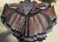 Steampunk Gipsy Upcycled Sweater Pixie Coat by PandorasKloset1
