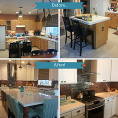 Check Out This Beautiful Kitchen Makeover To Our Titusville Shaker Maple  White Cabinets. | Pinterest | Beautiful Kitchen, Ku2026