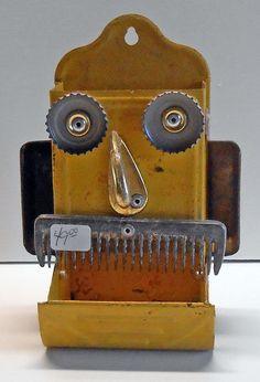MATCH DISPENSER HEAD - SM-124 by Steve Meadows - Possum County Folk Art Gallery