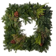 Like the square wreath!