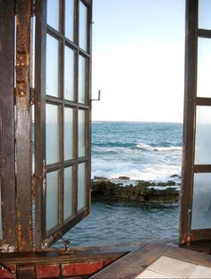 Ocean View, San Juan, Puerto Rico photo via susan. It is a wonderful place to have breakfast and morning coffee. Window View, Open Window, San Juan Puerto Rico, Through The Window, Coastal Living, Coastal Style, Windows And Doors, Nebraska, Arches