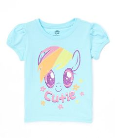 Another great find on #zulily! Light Blue 'Cute' Tee - Toddler & Girls by My Little Pony #zulilyfinds