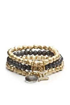 Danielle Stevens Jewelry  Set of 3 Gemini Sloan Stretch Bracelet