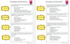 16 techniques d'interventions et petits trucs pour la gestion en classe