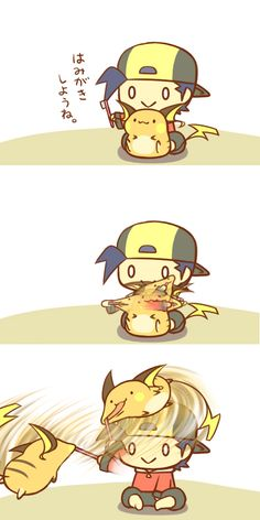 I don't endorse you do this to Raichu, you'll get shocked for sure if you do this...literally