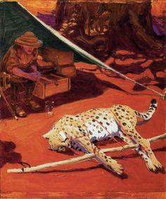 Akseli Gallen-Kallela aprilie 1865 - 7 martie pictor şi grafician finlandez - Self Portrait with Cheetah Finland Helene Schjerfbeck, Chur, Amelie, Prinz Eugen, Nordic Art, Expositions, Sculpture, Golden Age, Cheetah