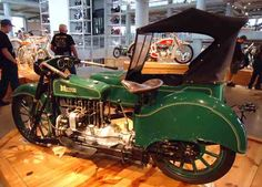A 1920 Militor designed for the US Army on display with other vintage and antique motorcycles at the Barber Vintage Motorsports Museum in Leeds, Ala. Vintage Indian Motorcycles, Antique Motorcycles, American Motorcycles, German Shepherd Colors, Americana Vintage, Honda Fireblade, Classic Bikes, Old Bikes, Vintage Cars