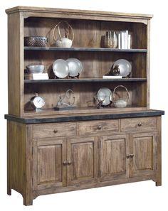 rustic buffet and hutch | Cumberland Buffet with Hutch, 544302-544303, Pulaski Furniture