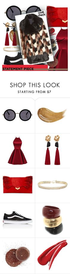 """Go Bold: Statement coats"" by blue99star on Polyvore featuring The Row, Too Faced Cosmetics, MANGO, Jimmy Choo, ABS by Allen Schwartz, Vans, Salvatore Ferragamo, Marc Jacobs and statementcoats"