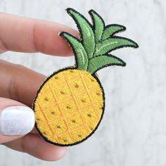 Ananas-Patch Aufbügeln bestickt Applique gelb Frucht