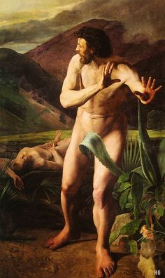 Cain and Abel. 1845. Zichy Mihaly. Hungarian. 1827-1906. oil /canvas. http://hadrian6.tumblr.com